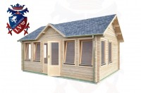 Log Cabins Hove 5.5m x 4.0m - 492 2