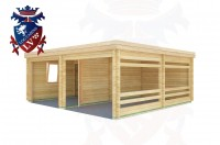 Log Cabins Cackle Street 6.0m x 5.5m - 515 2