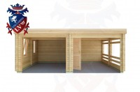Log Cabins Cackle Street 6.0m x 5.5m - 515 1