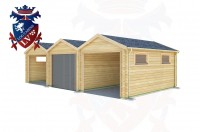 Log Cabins Stone-Cum-Ebony 9.0m x 5.0m - 524 2