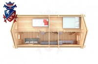 Log Cabin Northiam 4.0m x 8.0m - 663 5