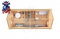 Log Cabin Northiam 4.0m x 8.0m - 663 7