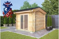 Laminated Log Cabins 3.0m x 3.0m - 766 1