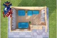 Log Cabins Kingswood 5.0m x 3.5m 783 2