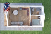 Residential Cabins Sandwich 4.5m x 9.0m 723 3