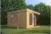 Log Cabins Sussex Siberian Larch Clad Fully Insulated Garden Office Elizabeth (4.0m x 4.0m)-3