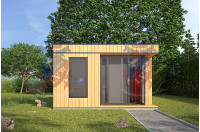 Log Cabins Sussex Siberian Larch Clad Fully Insulated Garden Office Elizabeth (4.0m x 4.0m)-1