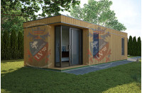 Siberian Larch Clad Fully Insulated  Garden Office Barbara 10.0m x 4.0m-1