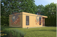 Log Cabins Sussex Siberian Larch Clad Fully Insulated Garden Office Eleanor 8.0m x 4.0m-1