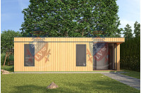 Log Cabins Sussex Siberian Larch Clad Fully Insulated Garden Office Eleanor 8.0m x 4.0m-3