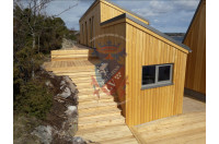 Siberian Larch Clad Fully Insulated  Garden Office Barbara 10.0m x 4.0m-9