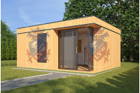 Log Cabins Sussex Siberian Larch Clad Fully Insulated Garden Office Catherine 6.0m x 4.0m-3