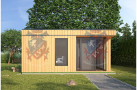 Log Cabins Sussex Siberian Larch Clad Fully Insulated Garden Office Catherine 6.0m x 4.0m-2