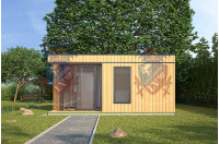 log cabins sussex Siberian Larch Clad Fully Insulated Garden Office Maria Teresa (6.0m x 4.0m) -4